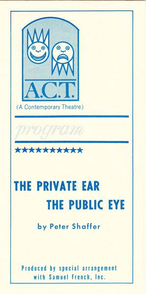 The Private Ear/The Public Eye